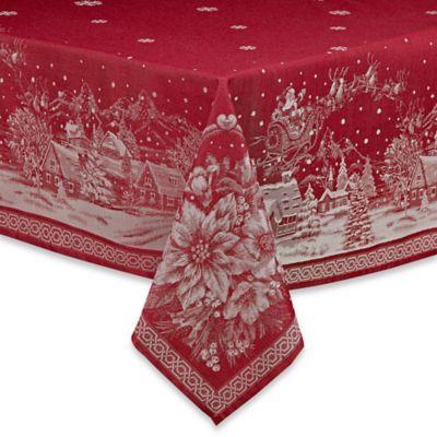 Christmas Story 70-Inch Round Tablecloth in Red
