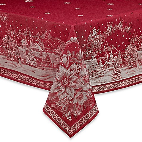 Christmas Story Tablecloth in Red - Bed Bath & Beyond