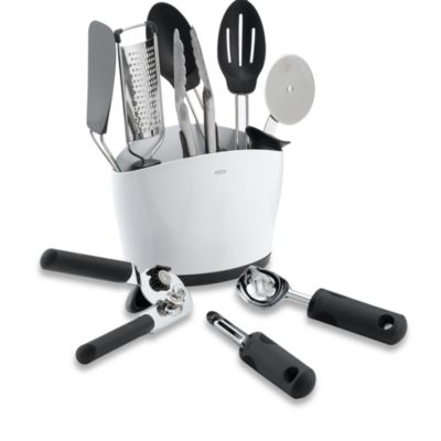 Crock of Kitchen Tools