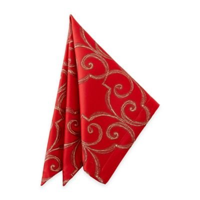 Waterford® Linens Sorelle Napkin in Red