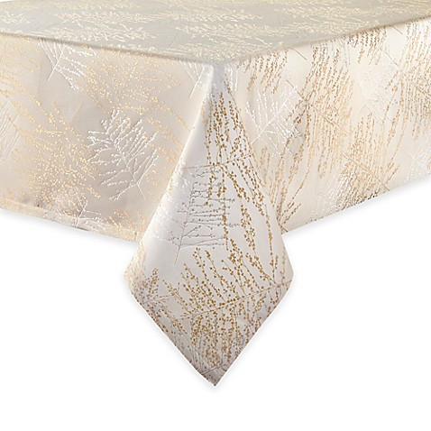 Waterford 174 Linens Timber Tablecloth In Gold Silver Bed
