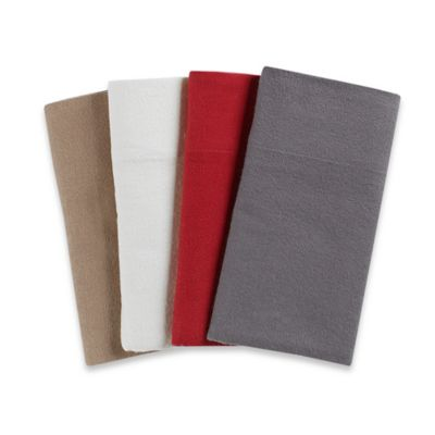 4.5 oz. Flannel California King Sheet Set in Grey in Taupe