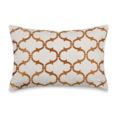Blue Stone Court Calista Ogee Motif Oblong Throw Pillow
