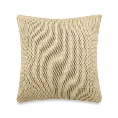 Blue Stone Court Calista Rib Knit Square Throw Pillow