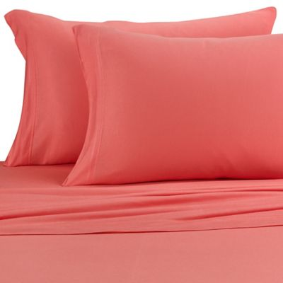 Pure Beech® Jersey Knit Modal® Queen Sheet Set in Coral