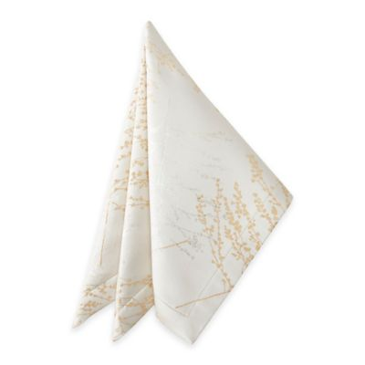 Waterford® Linens Timber Napkins in Golden/Silver (Set of 2)