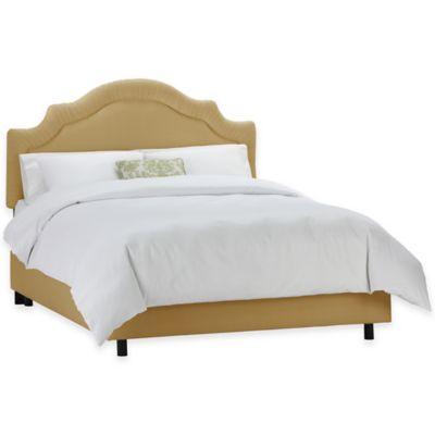 Skyline Furniture Larrabee Full Bed in Twill Khaki