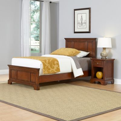 Home Styles Chesapeake 2-Piece Twin Bed and Nightstand Set in Cherry