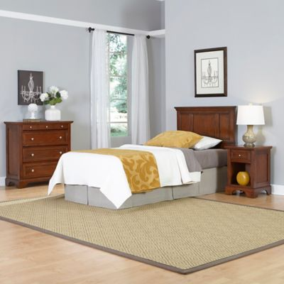 Home Styles Chesapeake 3-Piece Twin Headboard, Nightstand and Chest Drawer Set