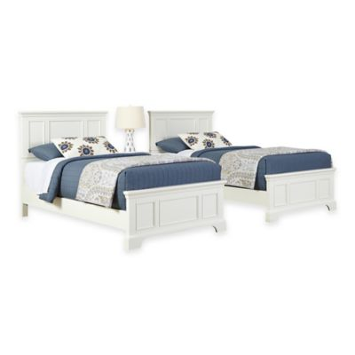 White Bed and Nightstands Set