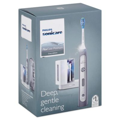 Philips Sonicare® FlexCare Platinum Grey Electric Toothbrush with UV Sanitizer