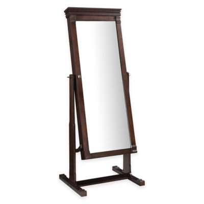 Linon Home Angela 23.75-Inch x 63-Inch Cheval Floor Mirror in Walnut
