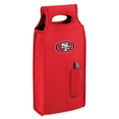 NFL San Francisco 49ers Wine Tote in Red