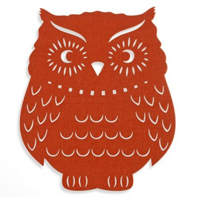 Felt Owl Placemat in Rust