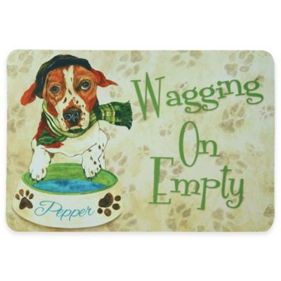 "Bacova 19-Inch x 13-Inch ""Wagging On Empty"" Pet Mat"