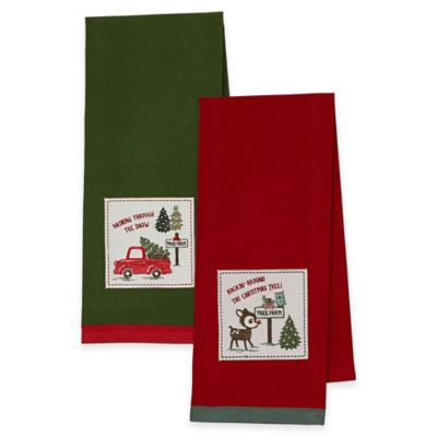 2-Pack Christmas Carols Kitchen Towels
