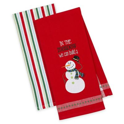 Snowman Kitchen Towels (Set of 2)