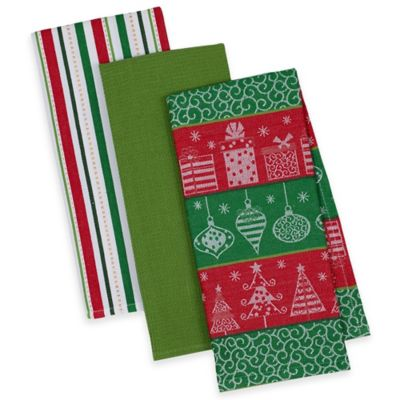 Assorted Holiday Dish Towels (Set of 3)