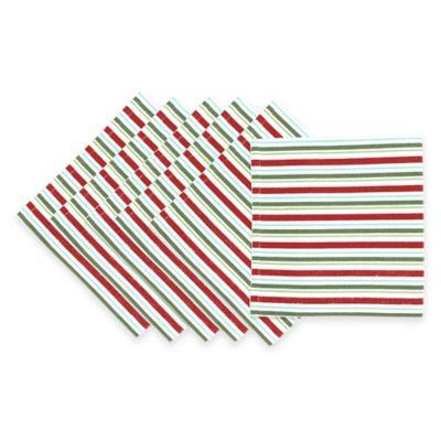 Chilly Willy Stripe Napkins (Set of 6)