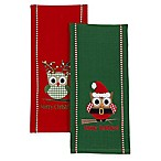 2-Pack Happy Owlidays Kitchen Towels