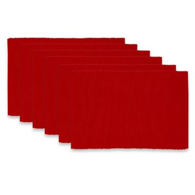 Ribbed Placemats in Red Cedar (Set of 6)