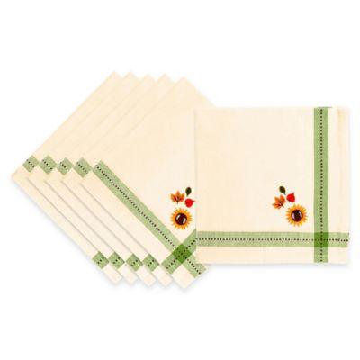 Embroidered Harvest Napkins (Set of 6)