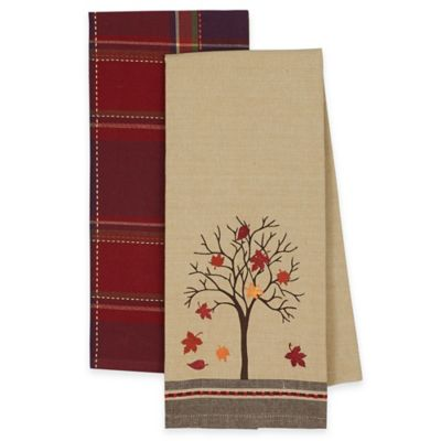2-Pack Fall Tree Kitchen Towels