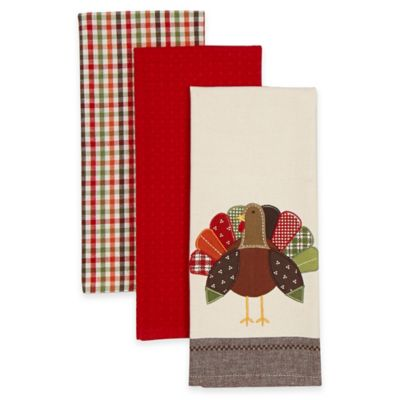 Red Decorative Kitchen Towels