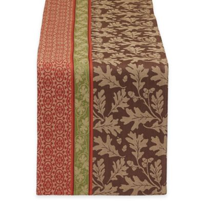 Design Imports Great Oak Jacquard 72-Inch Table Runner