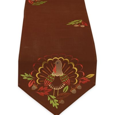 Brown Thanksgiving Table Linens