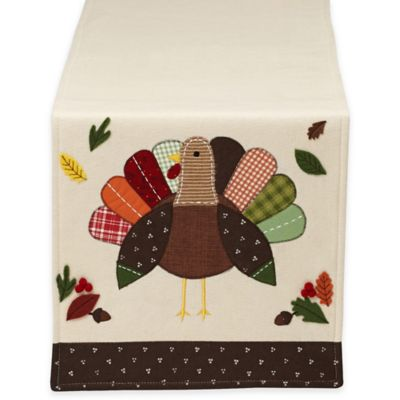 Turkey Embellished 64-Inch Table Runner