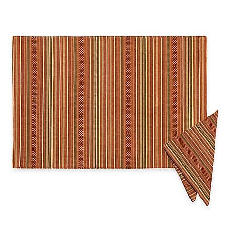 Sam Hedaya Autumn Stripe Placemat And Napkins Bed Bath