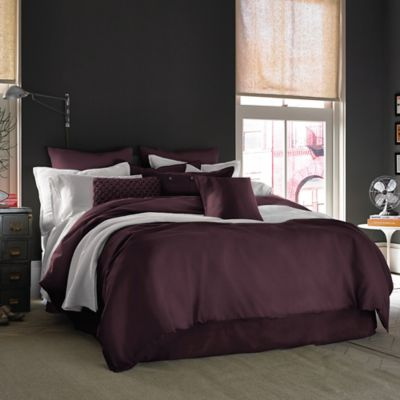 Kenneth Cole Reaction Home Mineral Full/Queen Comforter in Cranberry