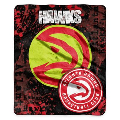NBA Atlanta Hawks Super-Plush Raschel Throw Blanket