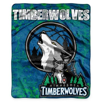 NBA Minnesota Timberwolves Super-Plush Raschel Throw Blanket