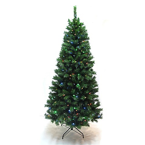 7 foot copeland pine pre lit christmas tree with color for Color changing christmas tree lights