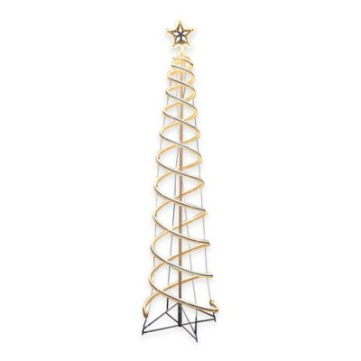 6-Foot Neon Flex Double Helix Spiral Tree in White