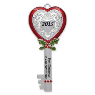 "Harvey Lewis™ ""First Christmas in Our New Home"" Key Ornament made with Swarovski® Elements"