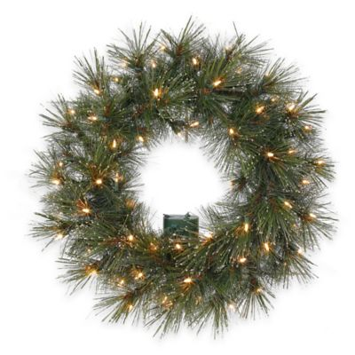 2-Foot 2-Inch Astoria Dew Drop Pre-Lit Wreath with Clear Lights