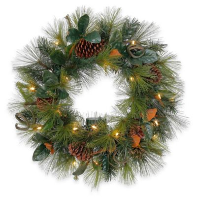 Outdoor Pre Lit LED Wreath 24