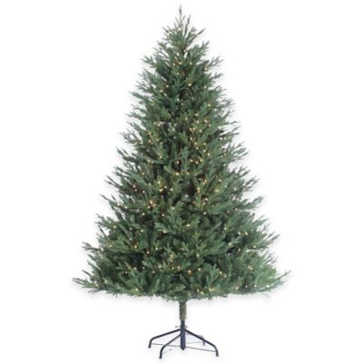 7.5-Foot Pre-Lit Kentucky Fir Christmas Tree with Clear Lights