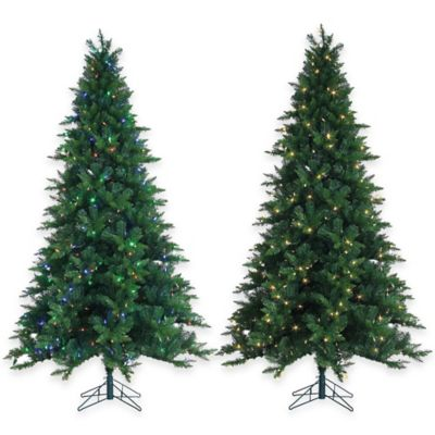 7-1/2-Foot Pre-Lit Oakland Spruce Christmas Tree with Dual Color LED Lights