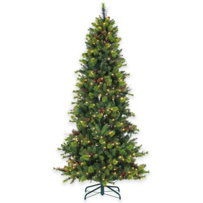 7-1/2-Foot Pre-Lit Michigan Spruce Christmas Tree with Clear Lights