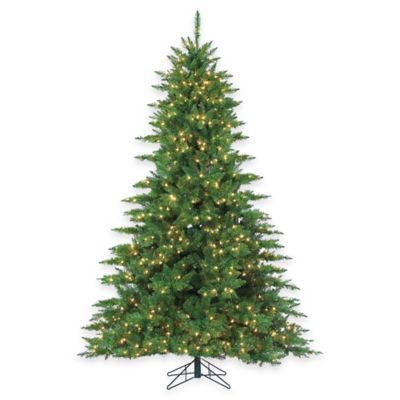 7-1/2-Foot Pre-Lit Wellington Pine Christmas Tree with Clear Lights