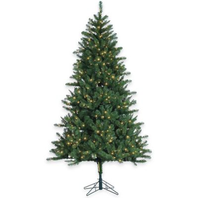 7-1/2-Foot Pre-Lit Hawthorne Pine Christmas Tree with Clear Lights
