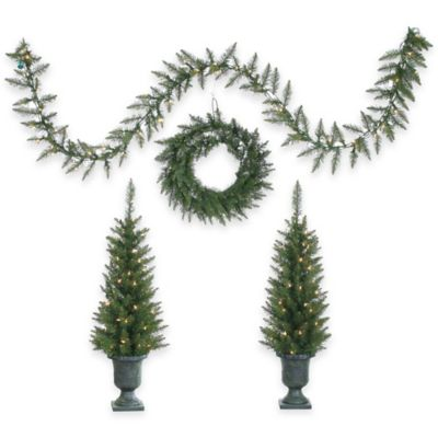 4-Piece Norway Pine Holiday Decor Set