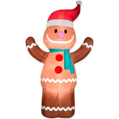 6-Foot Inflatable Gingerbread Man Holiday Lawn Ornament