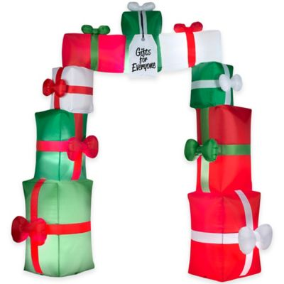 9.5-Foot Inflatable Outdoor Christmas Gift Arch Holiday Lawn Ornament