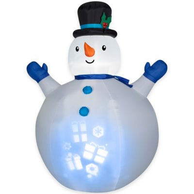 7-Foot Inflatable Outdoor Panoramic Projection Snowman Holiday Lawn Ornament