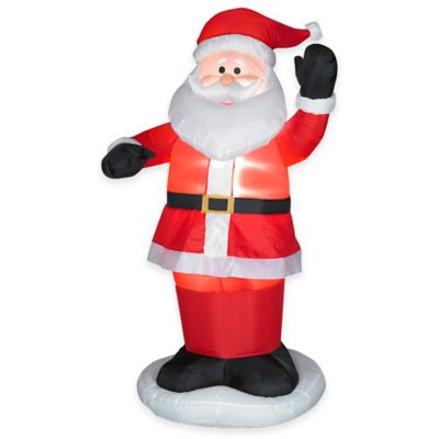 6-Foot Animated Inflatable Outdoor Dancing Santa Holiday Lawn Ornament